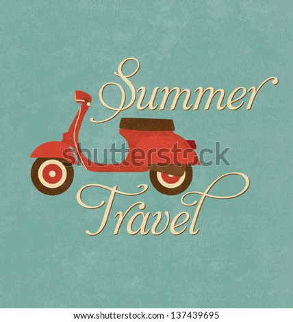 summer travel design   red