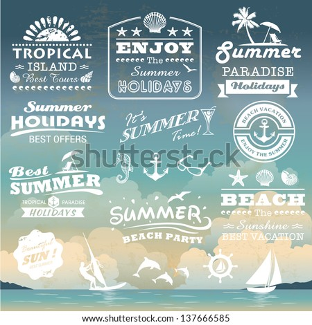 vintage summer typography