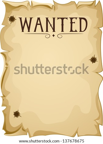 illustration of a blank wanted