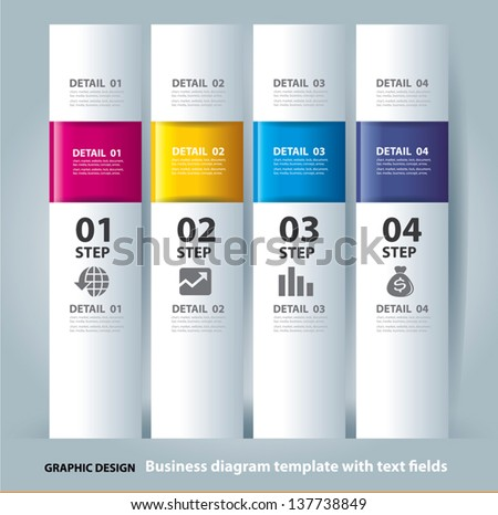 vector business step paper