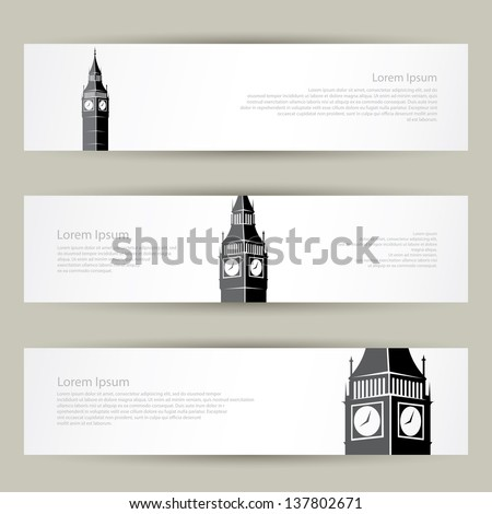 london banners   vector