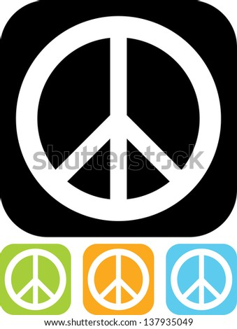 peace sign vector isolated