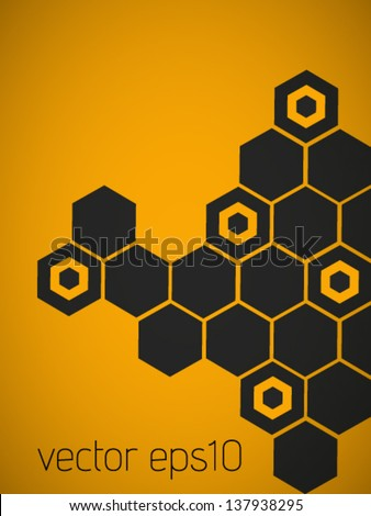 vector retro honeycomb abstract