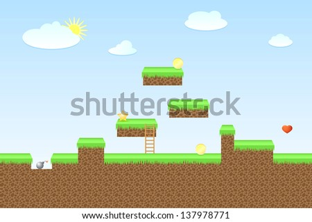 arcade game world  vector