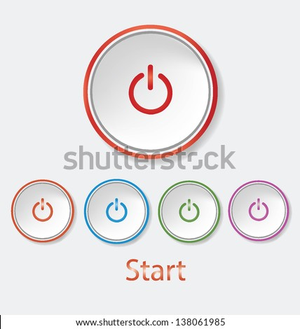 start   power button vector