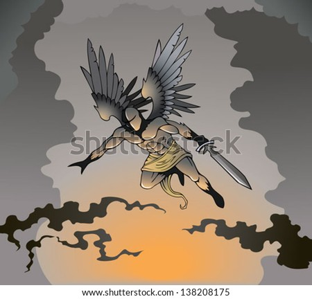 angel of death with sword