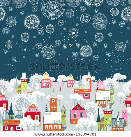 vector illustration with winter