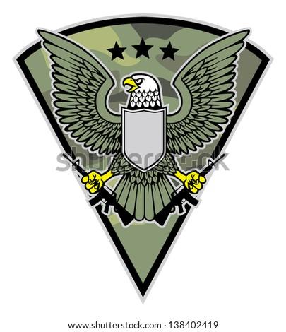 military bird mascot grab a