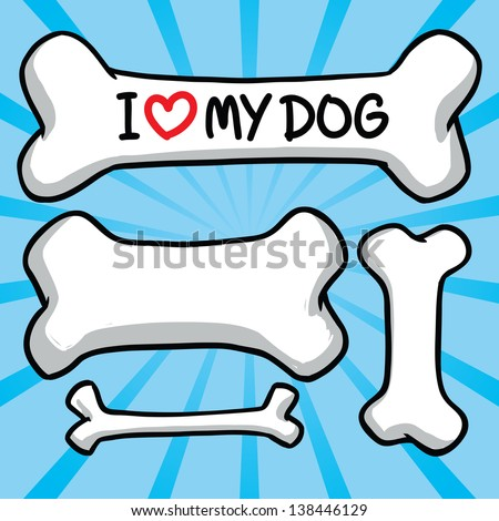 i love my dog sign on the bone