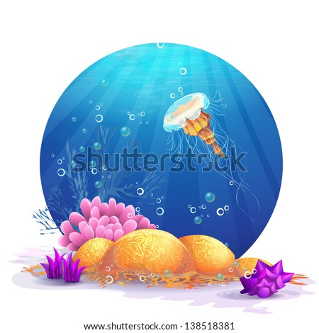 illustration of underwater