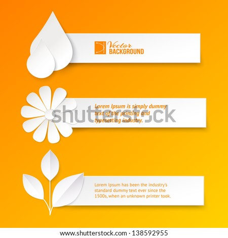 set of text cards vector