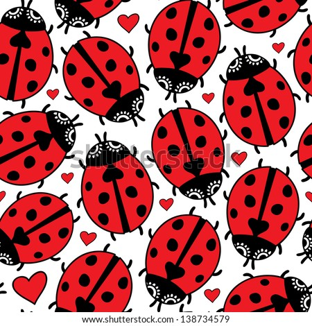floral doodle ladybird love