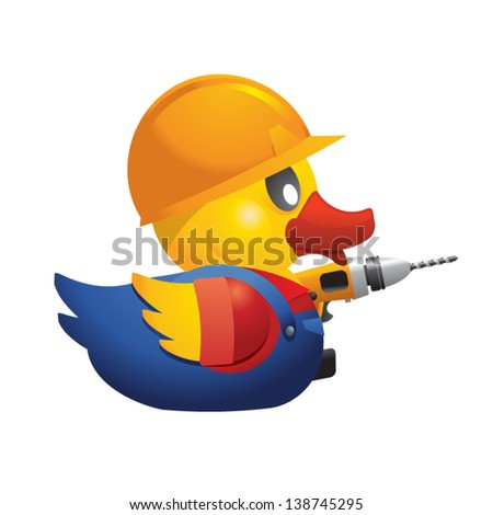 worker rubber duck