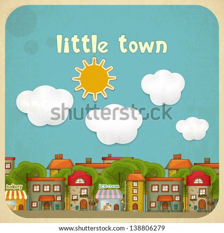little town townhouses in a