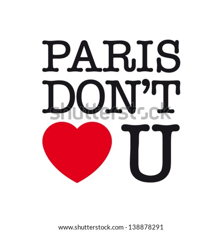 paris dont love you  font type
