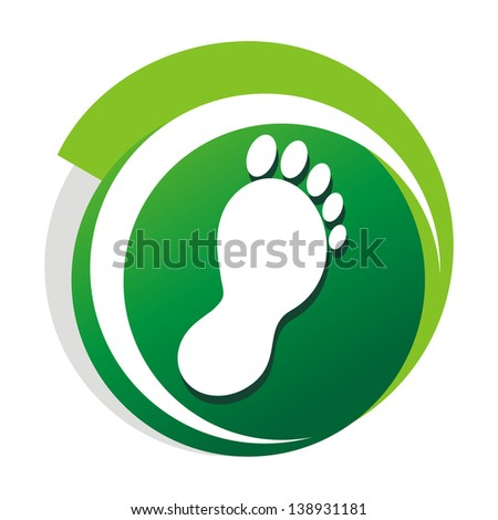 podiatrist_green_vector_logo