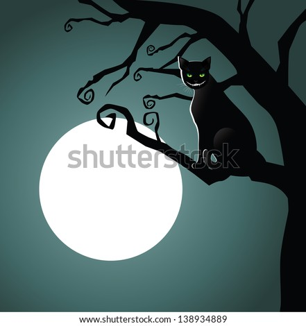 cheshire cat in the moonlight