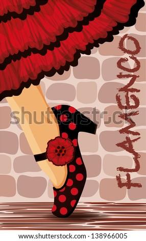 spanish flamenco dance card
