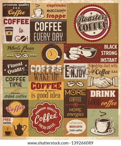 collection of coffee design
