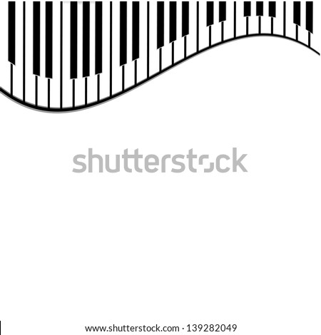 piano keys on a white background