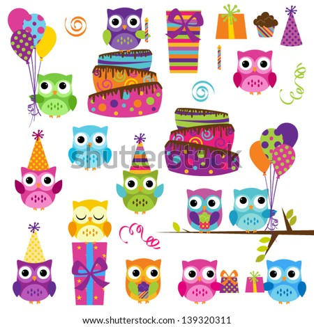 vector set of party or birthday