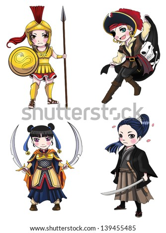 warriors girl from various