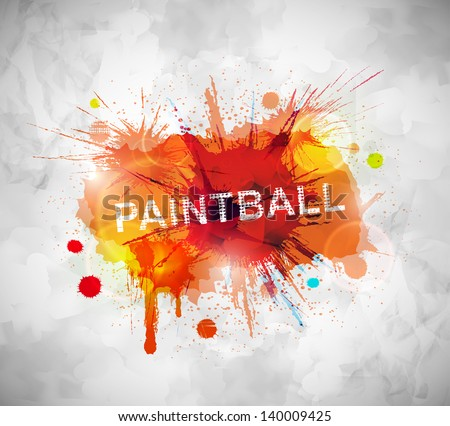 colorful paintball banner eps