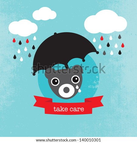 bear crying in the rain kids