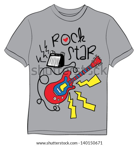 rock star t shirt graphics cute