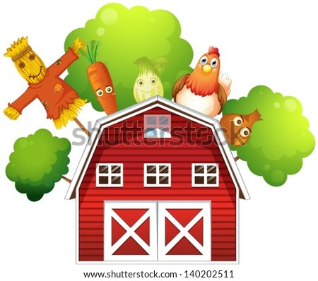 illustration of a barn with a