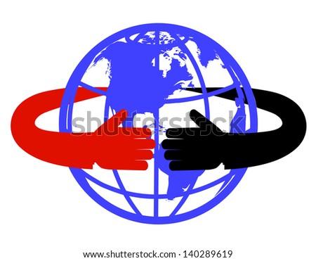 hand round the globe
