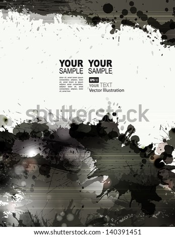 grunge background with black