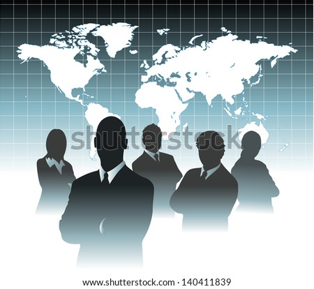 businessman team in front of