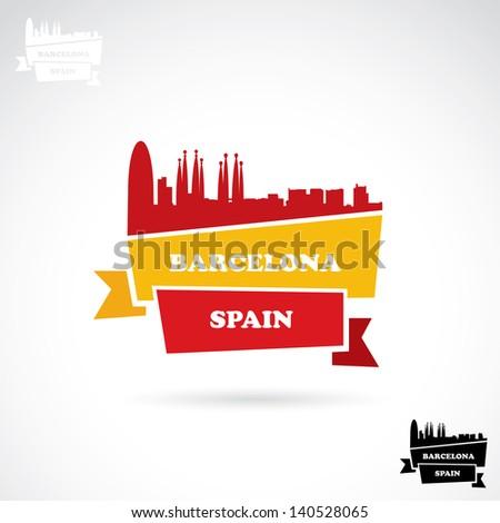 barcelona banner   vector