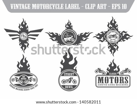 chopper motor label set