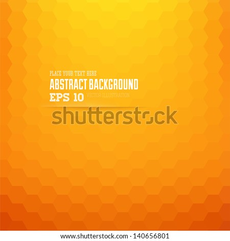 abstract geometric orange