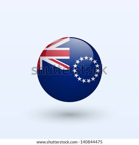 cook islands round flag vector