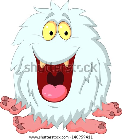 happy yeti cartoon