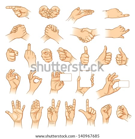 hands in different