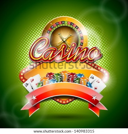 vector illustration on a casino