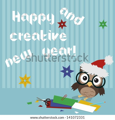 happy new year owl creative