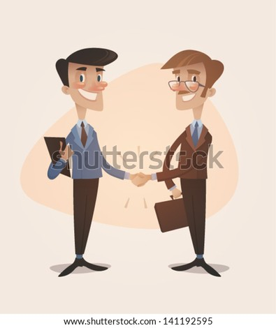 business deal handshake retro