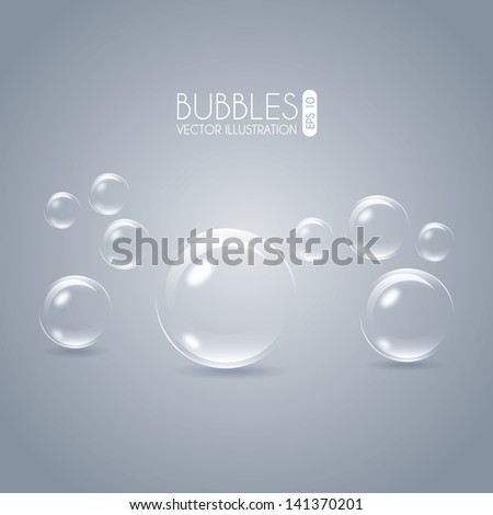 bubbles design over gray
