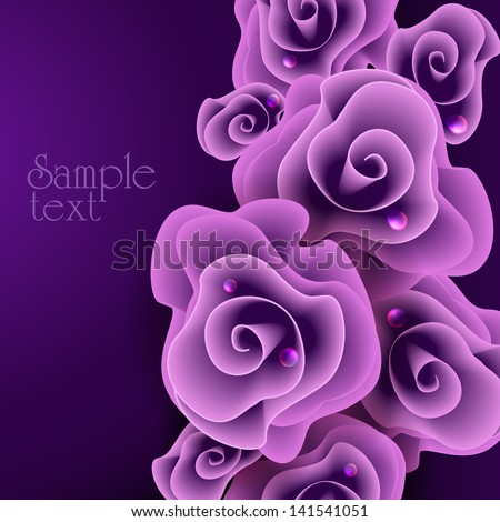 rose vector illustration eps