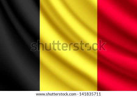 waving flag of belgium  vector