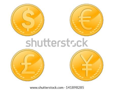 four coins symbol