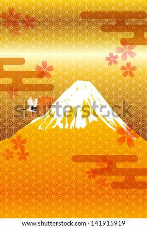 fuji cherry pattern new year's