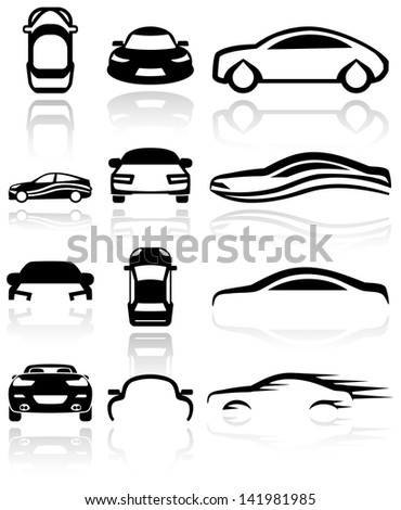 car vector icon set eps 10