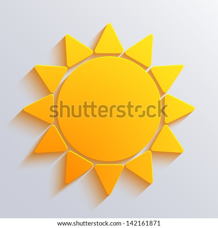 vector sun background eps10