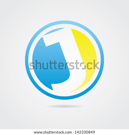 abstract letter j icon